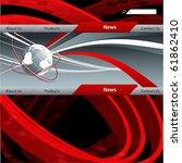 vector website template.... | Shutterstock .eps vector #61862410