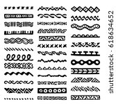 collection of hand drawn... | Shutterstock .eps vector #618634652