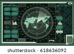 abstract digital radar screen...   Shutterstock .eps vector #618636092