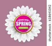 vector spring sale template... | Shutterstock .eps vector #618641042