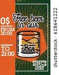 color vintage bar banner | Shutterstock .eps vector #618641222