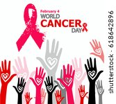 world cancer day | Shutterstock . vector #618642896