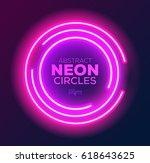 Abstract Neon Circles Banner....