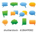 color speech bubble icons | Shutterstock .eps vector #618649082