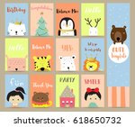 pink blue green collection for... | Shutterstock .eps vector #618650732