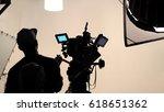 behind the scene of tv movie... | Shutterstock . vector #618651362
