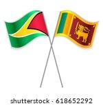 guyanese and sri lankan crossed ... | Shutterstock .eps vector #618652292