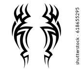 tribal symmetric pattern... | Shutterstock .eps vector #618655295
