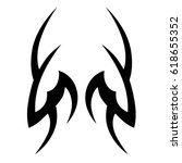 tattoo sketch tribal vector... | Shutterstock .eps vector #618655352