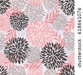 vector seamless pattern with... | Shutterstock .eps vector #618661076