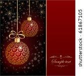 christmas background | Shutterstock .eps vector #61867105
