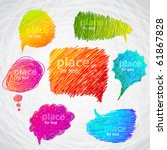colorful hand drawn speech and... | Shutterstock .eps vector #61867828