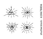 eye icon | Shutterstock .eps vector #618678806