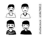 people face cartoon icon | Shutterstock .eps vector #618678812