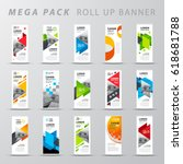 mega pack roll up banner design ... | Shutterstock .eps vector #618681788