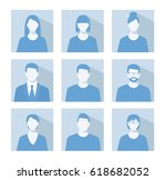 avatar profile picture icon set ... | Shutterstock . vector #618682052