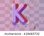 alphabet k template art | Shutterstock .eps vector #618683732