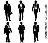 set silhouette businessman man... | Shutterstock . vector #618688388