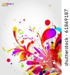 abstract background vector | Shutterstock .eps vector #61869187