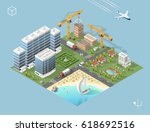 set of isolated high quality... | Shutterstock .eps vector #618692516