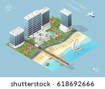 set of isolated high quality... | Shutterstock .eps vector #618692666