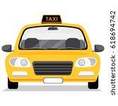 taxi car. vector illustration... | Shutterstock .eps vector #618694742