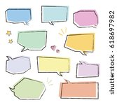 set of colorful speech bubbles  ... | Shutterstock .eps vector #618697982