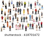 collection of people flat... | Shutterstock .eps vector #618701672