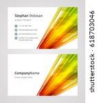 creative business card template ... | Shutterstock .eps vector #618703046