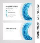 creative business card template ... | Shutterstock .eps vector #618703052