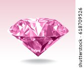 Pink Diamond. Realistic Vector...