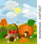 harvest on the nature | Shutterstock .eps vector #61871827