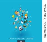 website under construction... | Shutterstock .eps vector #618719666