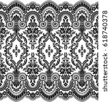 seamless lace pattern  flower... | Shutterstock .eps vector #618740378