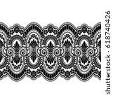 seamless lace pattern  flower...   Shutterstock .eps vector #618740426