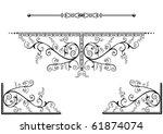 decorative design elements or... | Shutterstock .eps vector #61874074