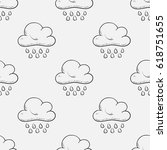 seamless pattern of clouds | Shutterstock .eps vector #618751655