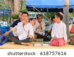 lampang   thailand  april 9 ... | Shutterstock . vector #618757616