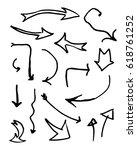 set of arrows with different... | Shutterstock .eps vector #618761252