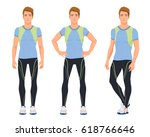 vector illustration of three... | Shutterstock .eps vector #618766646