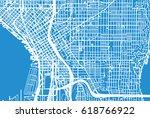 urban vector city map of... | Shutterstock .eps vector #618766922