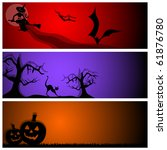 vector halloween banners | Shutterstock .eps vector #61876780