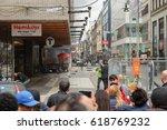 stockholm terrorist truck...   Shutterstock . vector #618769232