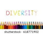 concept of diverse or diversity.... | Shutterstock . vector #618771902