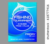 fishing poster or flyer | Shutterstock .eps vector #618777416