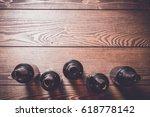 overhead shot of beer bottles...   Shutterstock . vector #618778142