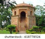 rang ghar  sivasagar  assam ... | Shutterstock . vector #618778526