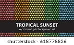 "heart pattern set ""tropical... | Shutterstock .eps vector #618778826"