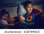 adorable little children girls... | Shutterstock . vector #618789815