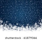 christmas decoration background ... | Shutterstock .eps vector #61879366